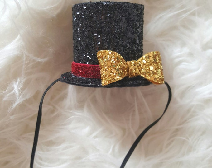 Mini Glitter Ringmaster Circus themed Birthday Top Hat    Snow Man Top Hat    Frosty the Snow Man    Top Hat