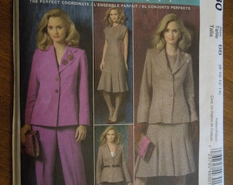 McCalls M4930, sizes 8-14, misses, womens, lined jacket, dress, pants, UNCUT sewing pattern, craft supplies
