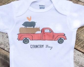 NEW Country Boy Onesies®, Baby Boy Onesie, Country Baby Clothes, Graphic Bodysuit, Baby Singlet, Retro Baby, Onesies, Truck Onesie, Onesies®