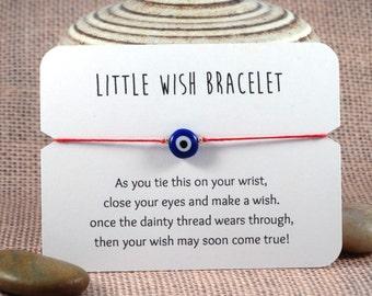 Evil Eye Wish Bracelet // Nazar Bracelet // Lucky Charm Bracelet // Good Luck Bracelet // Protection Bracelet // Lucky Nazar Bracelet