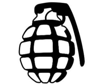 Vinyl sticker - grenade design