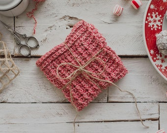 PDF Crochet Pattern for The Peppermint Washcloth