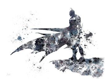 Batman The Dark Knight ART PRINT 2nd Edition illustration, Superhero, Home Decor, Wall Art