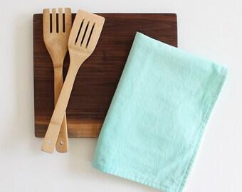 green dip dye paradise green kitchen tea towel gift SALE