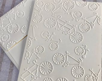 Bicycle Cards~Bike Cards~Bicycle Note Cards~Bicycle Tags~Embossed Bicycle Notes~Bicycle Gift Tags~Note Cards~Tags~Bicycle~Bike~Thank You