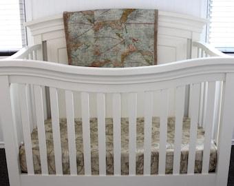 World map bedding etsy world traveler bedding set map nursery set globetrotter nursery gumiabroncs Choice Image