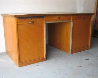 Shutters desk * Mid century * Art Deco * Vintage * 50s
