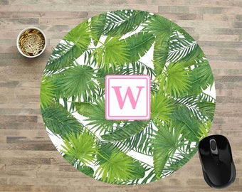 Floral Mouse Pad, Monogram Mouse Pad, Tropical Mouse Pads, Floral Mouse Pads, Personalized Mouse Pads,  Floral Mouse Pad, Mouse Pad