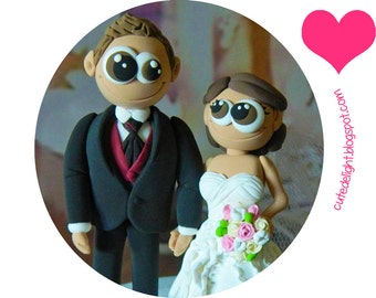 Wedding Cake Topper - CUSTOM cake topper, FUNNY cake topper, Wedding figurines, wedding topper, lovely cake topper, cute cake topper