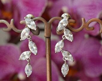 Wedding Earrings, Bridal Earrings, Bridal jewelry, Cubic zirconia Earrings, zirconia jewelry,prom.
