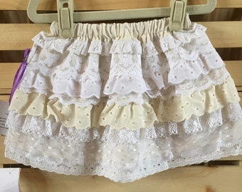 Girls Layers of Lace Skirt