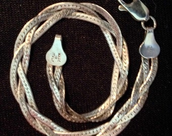 Sterling Silver Braided Bracelet (st - 1592)
