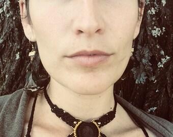 Protea Macrame necklace