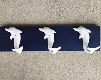 dophin towel rack beach towel hooks Beach house dreams pool mud room hot tub beach home decor coastal living