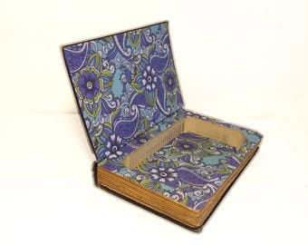 Hollow Book Safe The Ruling Passion cloth bound vintage Secret Compartment Security hiding place