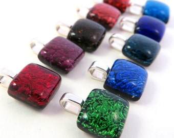 Made to Order - Simple Square Pendant - You Choose the Color!