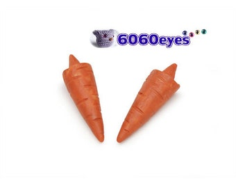 """Snowman carrot nose glue on straight nose 1.25"""" - 2 pcs"""