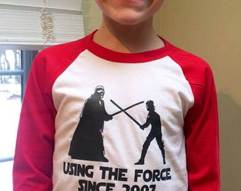 Custom Star Wars Birthday T'shirt with name/number