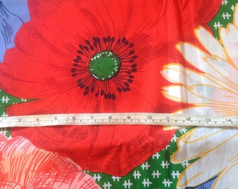 Gorgeous Large Scale Floral Cotton Quilting Fabric Poppy Daisy Hibiscus