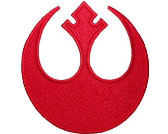 Rebel Alliance Red Insignia Patch Star Wars Rogue Pilot Costume Iron-On Applique