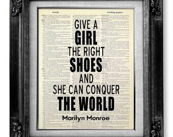 GIRL Room Art, BIRTHDAY Gift Her Girlfriend, Unique Gift Her, DORM Poster, Congrats New Job Gift Best Friend Go Away, Marilyn Monroe Poster