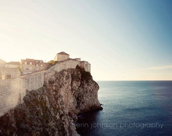 croatia photography, dubrovnik, travel photography, medieval city, landscape, architecture, europe art decor, On the Wall D02