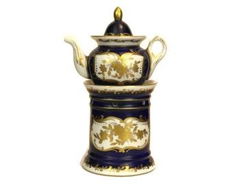 French Porcelain Veilleuse Tisaniere.