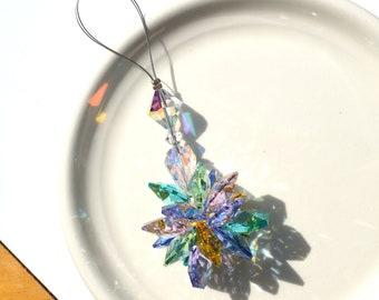 Swarovski Crystal Ornament, Crystal Suncatcher, Pastel Crystal Ornament, Window Suncatcher