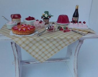 Table with strawberries