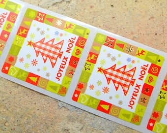 10 stickers label sticker gift Christmas holiday