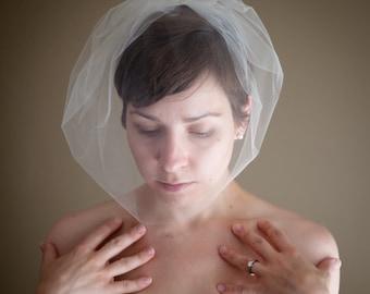 Large Tulle Birdcage Wedding Veil (Blusher Veil, Mini Veil, Bridal Veil, Bridal Illusion Tulle, Bird Cage Veil, Retro Veil)