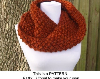 Instant Download Knitting Pattern PDF - Knit Cowl Scarf Knitting Pattern PDF for Chunky Mobius Cowl - Womens Accessories