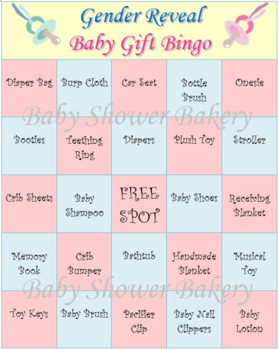 Crafty image with gender reveal games printable