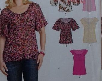 UNCUT New Look 6870  Misses Tops