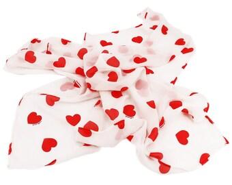 HEARTS Leopoldine Chateau printed silk scarf