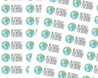EXCLUSIVE** We Proudly Reuse ( 40 Stickers 1x2in Matte Sticker)