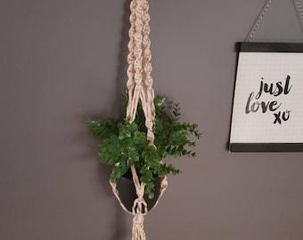 Macrame Plant Hanger - Bronze Shimmer