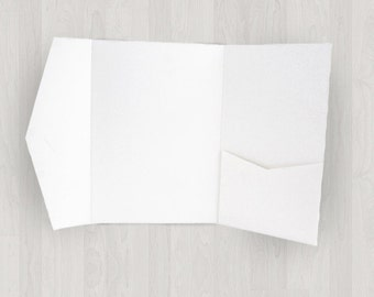 10 Large Vertical Pocket Enclosures - White - DIY Invitations - Invitation Enclosures for Weddings & Other Events
