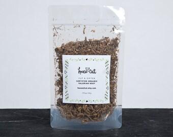 Organic Valerian Root, Dried Cut and Sifted Valerian Herb, Valeriana officinalis, Cat Herbs, Pet Gift, Organic Pet Treats
