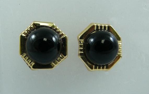 Black Onyx Earring 14k Yellow Gold