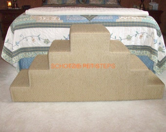 4 Step  Double Double 24 inches high x 16 inches wide x 54 inches long Pet Steps