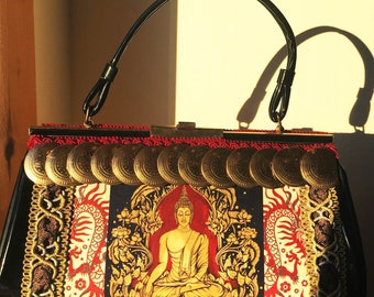 Goddess Buddha Up-cycled Handbag