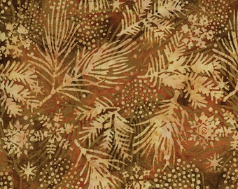 Toast Happy Harvest Batik Quilt Fabric 100 Percent Cotton, by Island Batik Fabric by the Yard, Brown Quilting Fabric