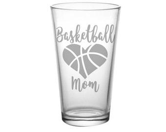 Basketball Mom, Mom of Basketball Player Gift, Basketball Glass, Basketball Team Mom, Basketball Parent, Basketball Moms,
