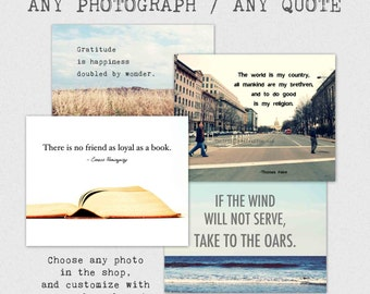 Custom Quote Photography Print, personalized text, 8x10