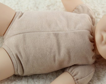 """17""""-18"""" reborn doe suede body for baby doll kits 3/4 arms & full front-loading legs"""