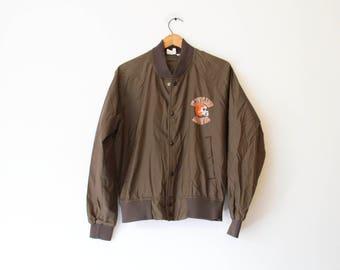 Vintage Cleveland Browns Football Light Weight Jacket