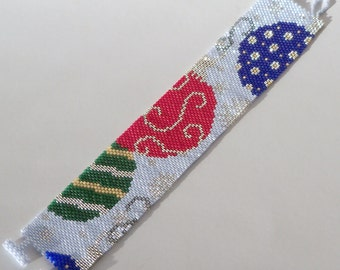 All for the Holidays Bracelet Pattern - Peyote Pattern - Beading Pattern