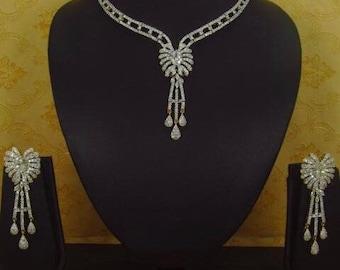 AD/CZ Necklace set|American Diamond Jewelry | Bridal Jewelry / Party wear jewelry / Evening wear jewelry set