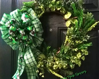 Happy St Patrick's Day wreath